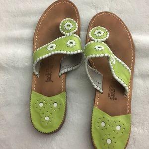 Jack Roger Leather Sandals (Size: 9)💚💚